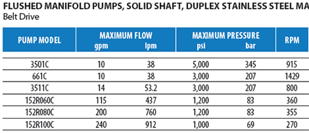 Duplex Stainless Steel Flush Pumps